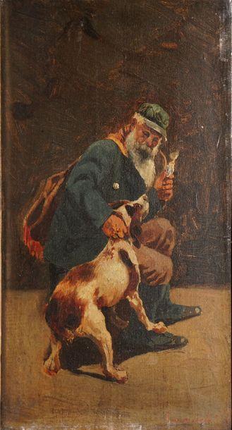 CARRACCIOLO Ottorino, 1855-1880  Fumeur de...
