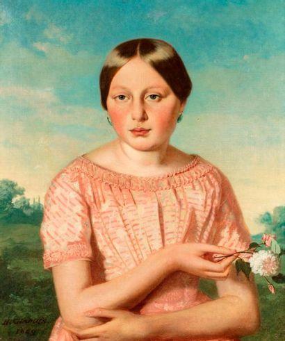 CHAPUIS Honoré, 1817-1865,  Agathe Léonard,...