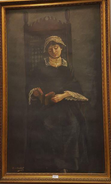 CODET C. (XIXeme siècle]  Femme à sa lecture...