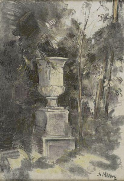 VOLLON Antoine, 1833-1900  Vasque dans un...