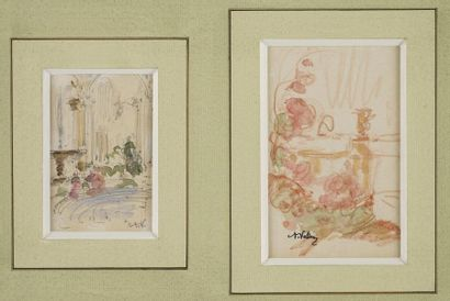 VOLLON Antoine, 1833-1900  Bassin et fontaine...