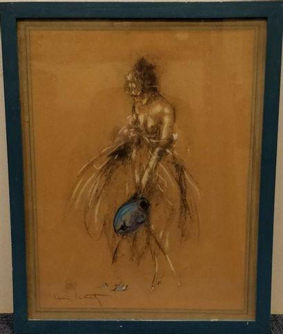 ICART Louis, 1888-1950,  La cruche cassée,...