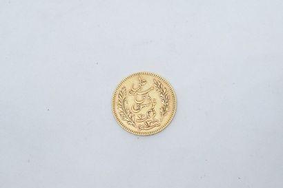 Pièce en or de 20 Francs Ali 1892.  TTB....
