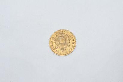 Pièce en or de 20 Francs Napoléon III tête laurée (1862 A).  TTB.  Poids : 6.45...