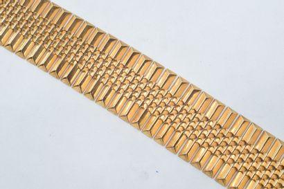Bracelet style Tank en or jaune 18k (750)....