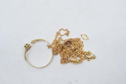 Lot de débris d'or 18k (750).  Poids : 6.1...
