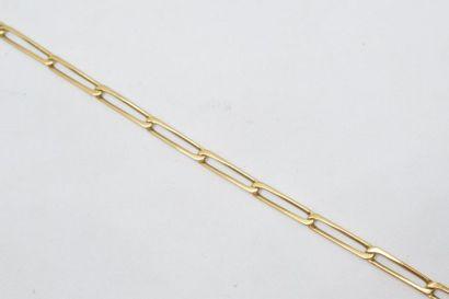 Bracelet en or jaune 18k (750) à maille cheval....