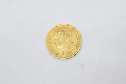 Pièce en or de 40 francs Napoléon Empereur...