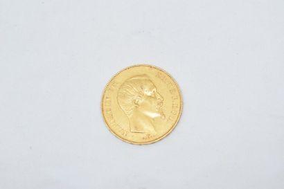 Pièce en or de 50 francs Napoléon III tête...