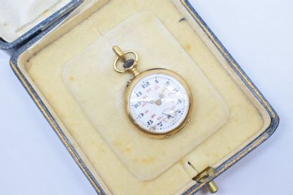 Montre de col en or jaune 18k (750) cadran...