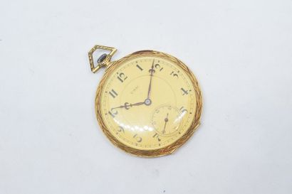 Montre de gousset en or jaune 18k (750),...
