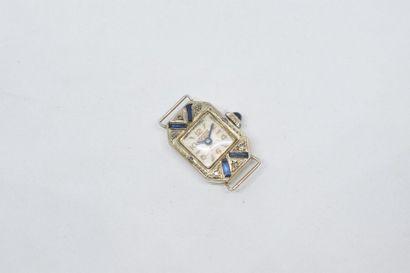 Boîtier de montre en or gris 18k (750) de...