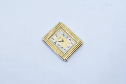 Boîtier rectangulaire de montre en or jaune...