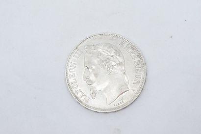 1 pièce de 5 Francs argent Napoléon III tête...