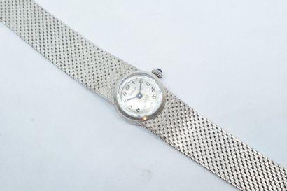 Montre bracelet de dame en métal, boîtier...