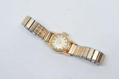 Montre bracelet de dame, boîtier rond en...