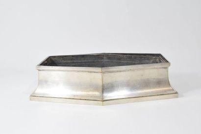 Jardinière centre de table en métal argenté...