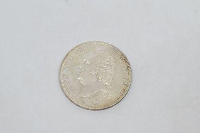 Louis XVIII (1815-1824) 5 francs 1822. Paris.G...