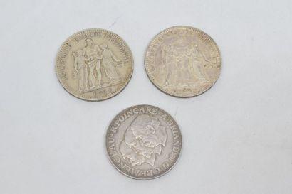III République 5 Francs Hercule. 2 exemplaires...