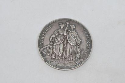 Médaille.  1835. Loi du 9 juillet 1835. Chemin...
