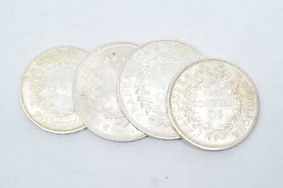 Ensemble de pièces en argent de type Hercule...