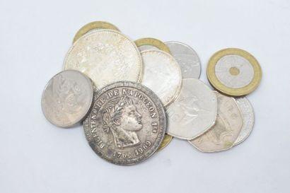 Ensemble de pièces en argent : Hercule 50...