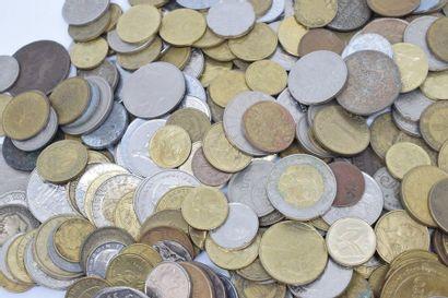 Ensemble de pièces de monnaie européennes majoritairement France XXème.