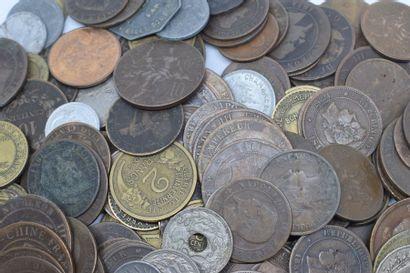Lot de pièces de monnaie diverses, majoritairement...