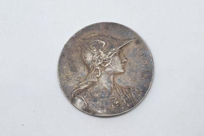 Médaille en bronze argenté Patria d'après...