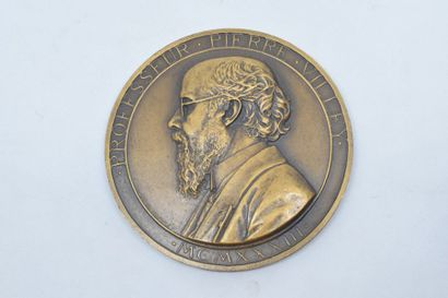 Médaille en bronze (corne d'abondance).  Avers : PROFESSEUR PIERRE VILLEY MCMXXXIII....