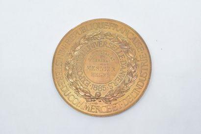 Médaille en bronze (corne d'abondance).  Avers : AU MERITE.  Signature : J. C. CHAPLAIN....