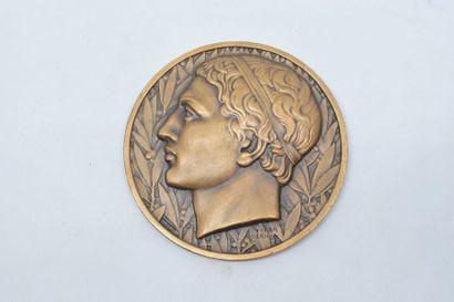 [ ARTHUS BERTRAND ]  Médaille en bronze représentant...