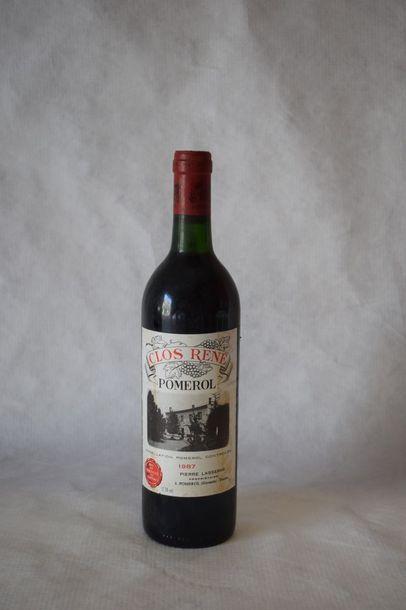 9 bouteilles CLOS RENÉ, Pomerol 1987 (2 TLB)
