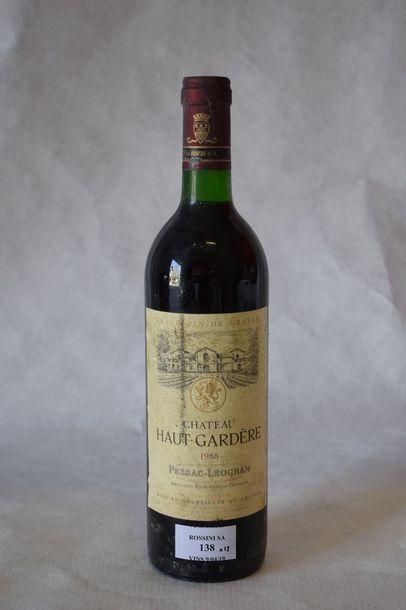 12 bouteilles CH. HAUT GARDÈRE, Pessac-Léognan...
