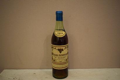 """1 bouteille COGNAC """"Authentique"""", M. Cornet 1914 (etla)"""