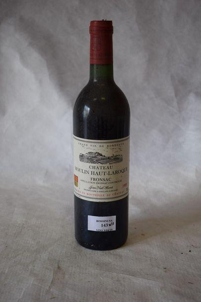 11 bouteilles CH. MOULIN-HAUT-LAROQUE,...