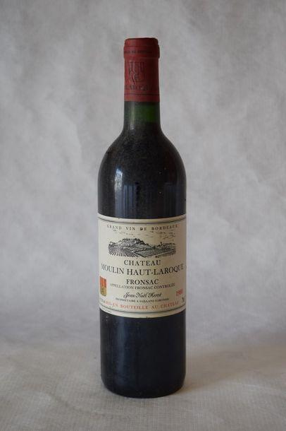 12 bouteilles CH. MOULIN-HAUT-LAROQUE,...
