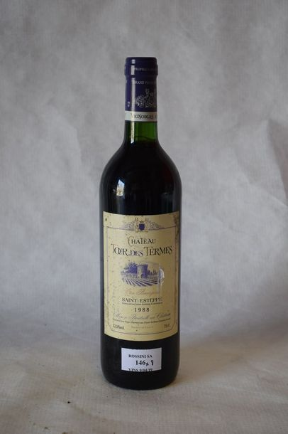 8 bouteilles CH. TOUR DES TERMES, Saint-Estèphe 1988 (elt)