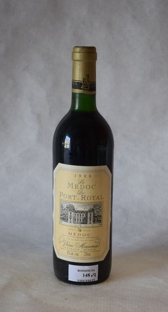 8 bouteilles LE MÉDOC DE PORT-ROYAL, Borie-Manoux 1988 (es, TLB/LB)