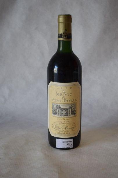 12 bouteilles LE MÉDOC DE PORT-ROYAL, Borie-Manoux...