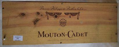 1 double-magnum MOUTON-CADET, 1988...