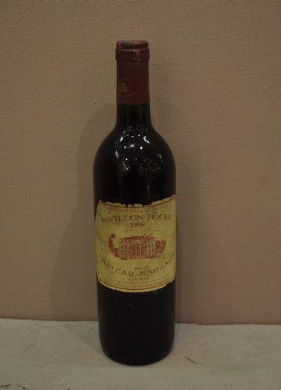 1 bouteille PAVILLON ROUGE DU CH. MARGAUX,...
