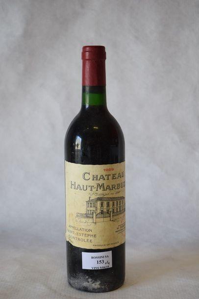 4 bouteilles CH. HAUT MARBUZET, Saint-Estèphe...