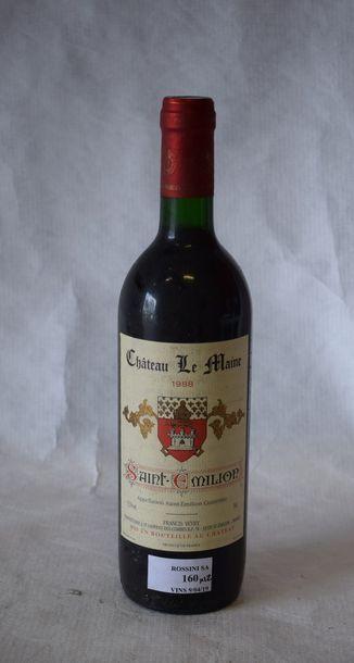 12 bouteilles CH. LE MAINE, St-Emilion...