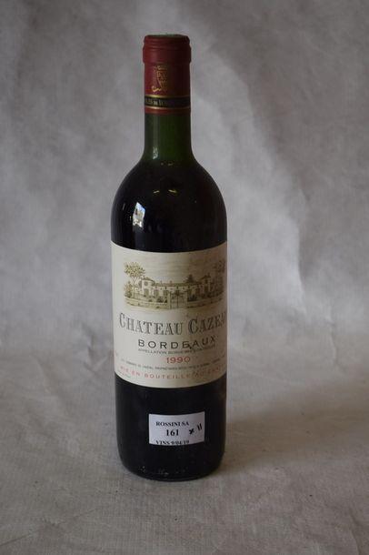 11 bouteilles CH. CAZEAU, Bordeaux 1990...