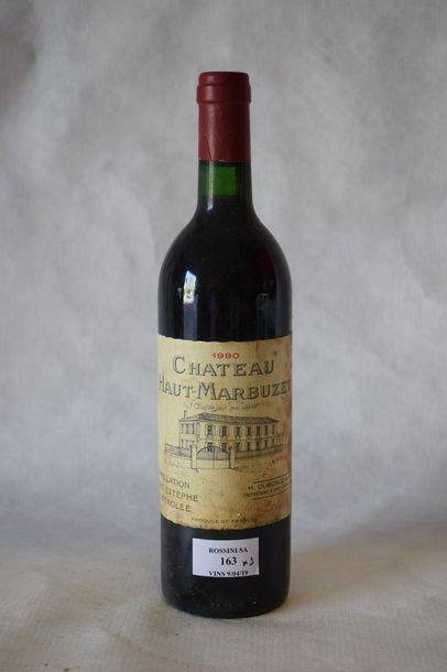 9 bouteilles CH. HAUT MARBUZET, Saint-Estèphe...