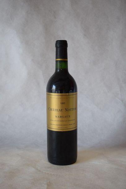9 bouteilles CH. NOTTON, Margaux 1990...