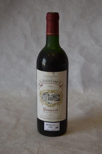 6 bouteilles CH. LA FLEUR CLOQUET, Pomerol...