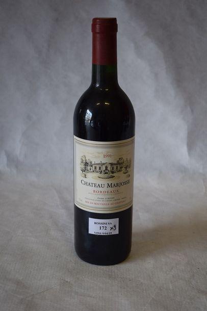 9 bouteilles CH. MARJOSSE,  Bordeaux...