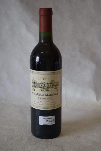 12 bouteilles CH. MARJOSSE,  Bordeaux...